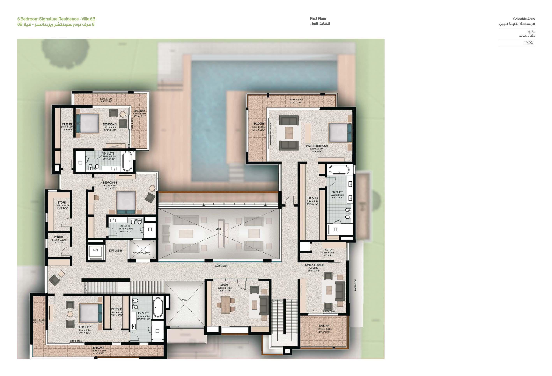 Sobha Hartland Villas Op House Plans House Floor Plans Floor Plans