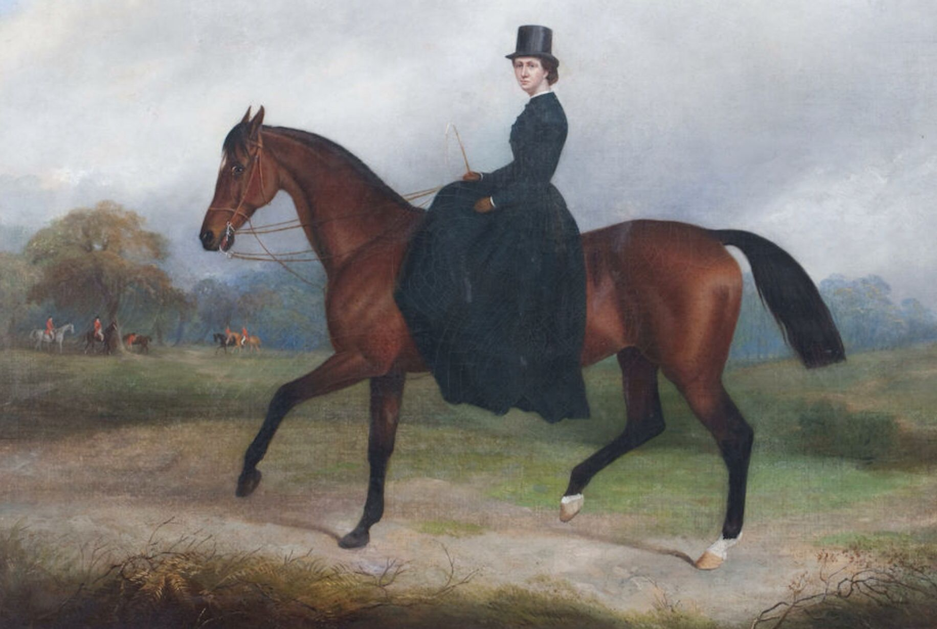 Lady on Horseback by John Paul