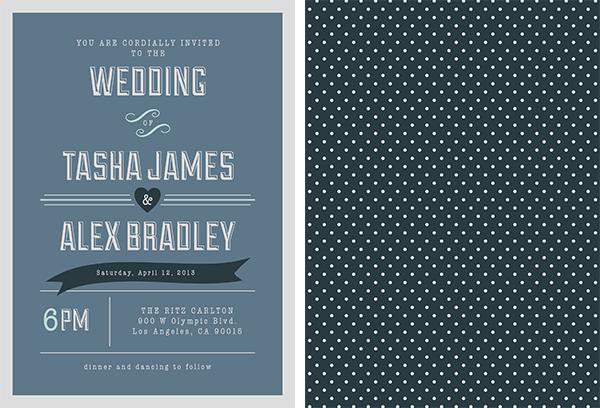 Free Blue Retro Invitation #invitation #wedding #free