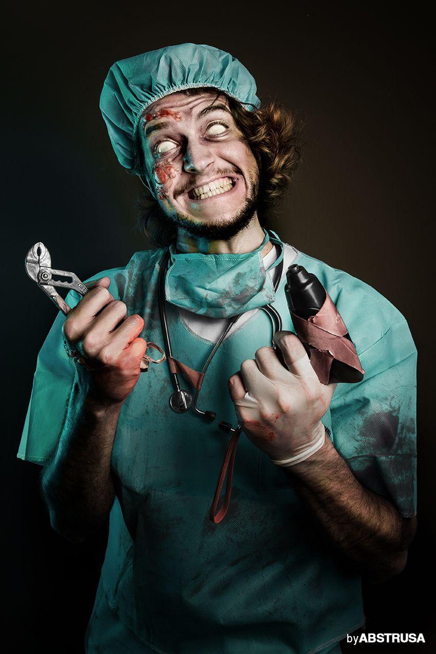Adult DECEASED DOC Men Zombie Doctor Living Dead Halloween Fancy Dress Costume