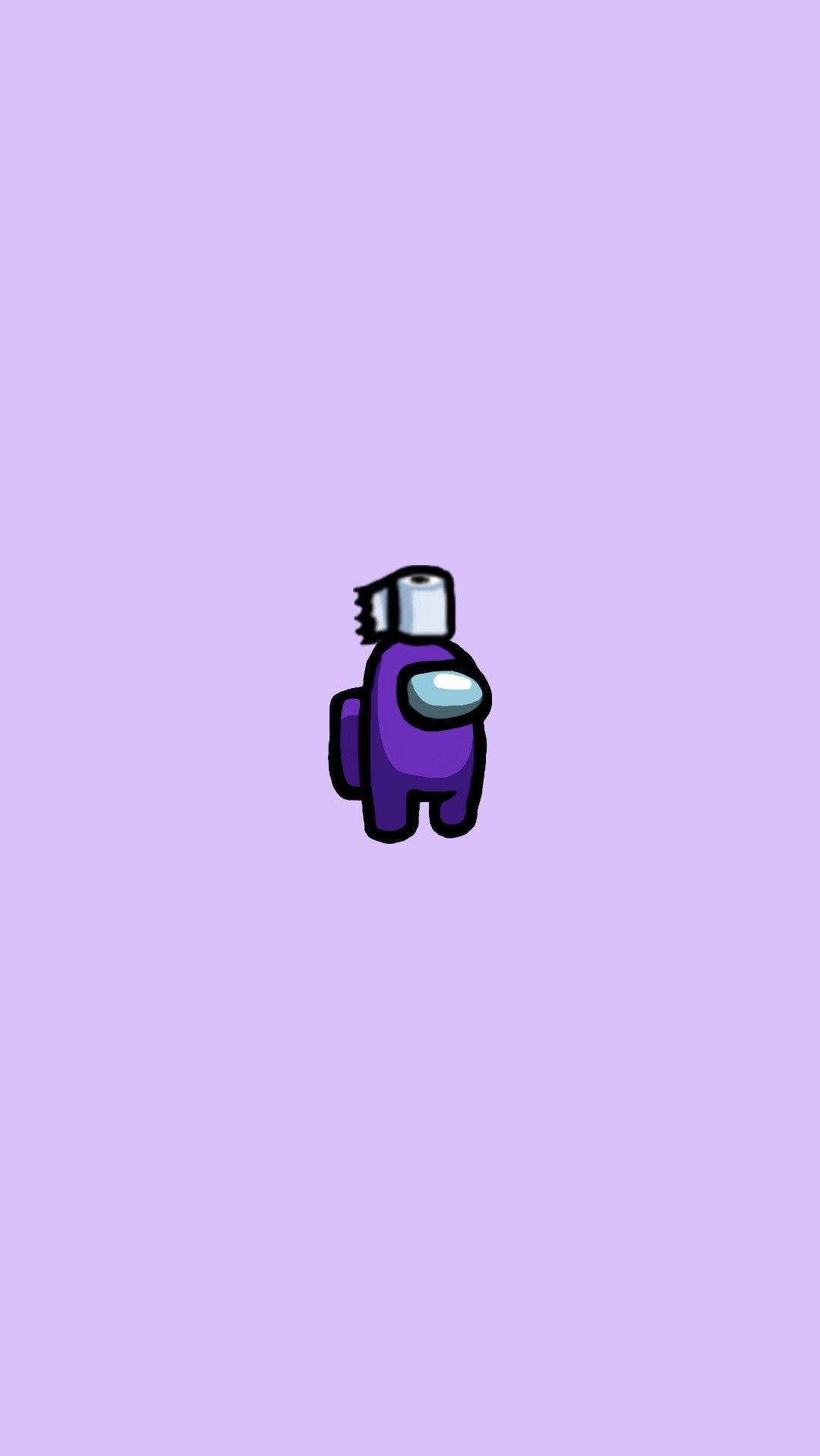 Aesthetic Purple Among Us Character Wallpaper