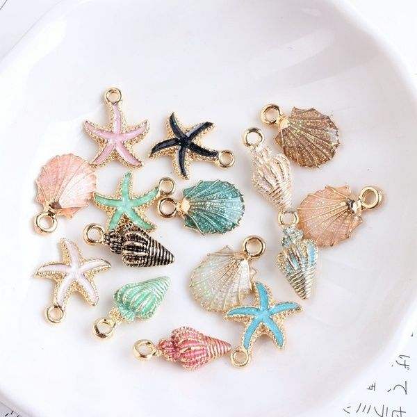 Craft Making Earring Ocean Pendants Sea Shell Handmade Accessories Conch Charms