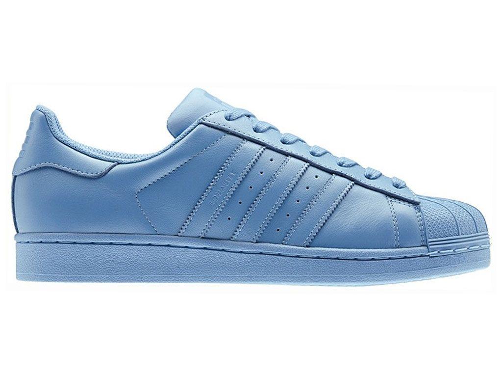 Adidas Superstar Supercolor Williams Pack Pharrell Williams Supercolor Half bleu 768247