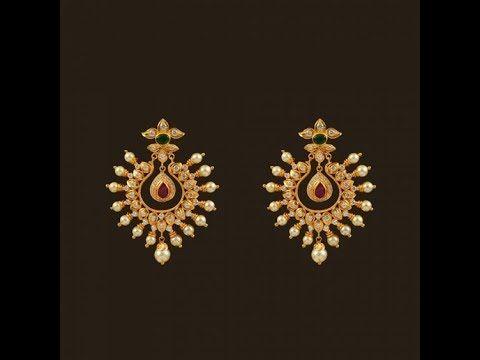 Gold Latest Fresh Pearl Earring Designs