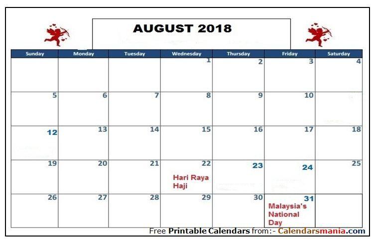 August 2018 Calendar Singapore August 2018 Calendar Pinterest