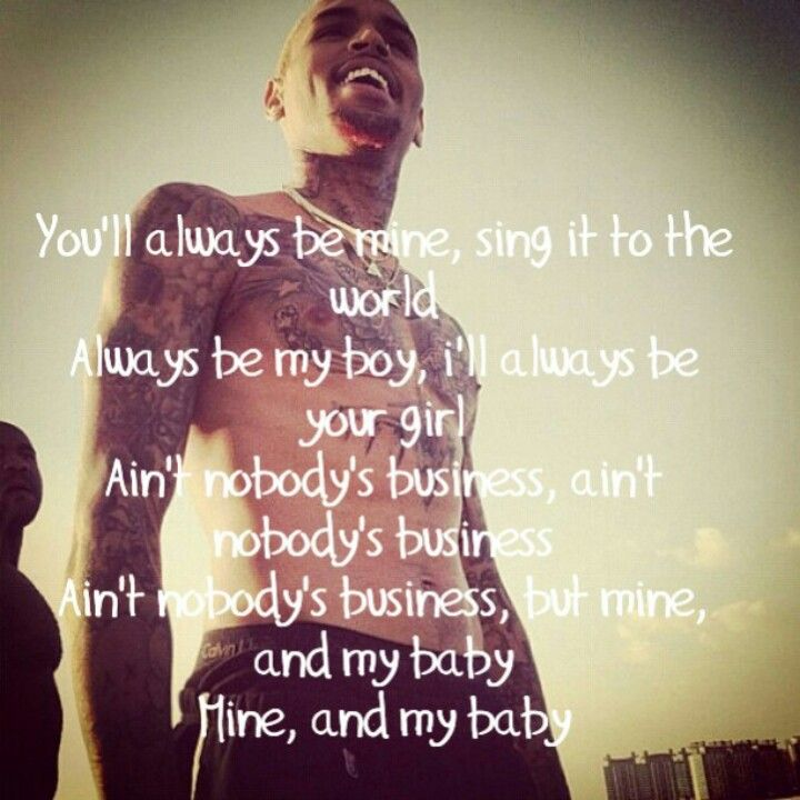 Lyric love rihanna lyrics : Rihanna ft Chris Brown - Nobody's business but mine and my baby ...