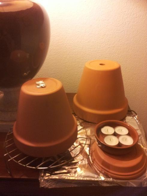 faire un petit chauffage d 39 appoint avec des bougies trucs et astuces maison pinterest. Black Bedroom Furniture Sets. Home Design Ideas