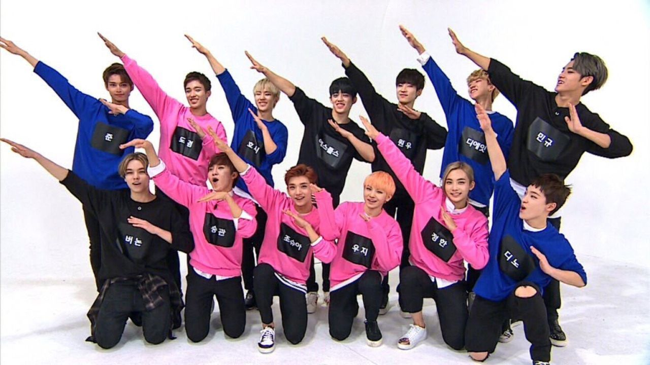"In a recent episode of ""Weekly Idol,"" super rookie male idol group SEVENTEEN made a guest appearance where they showed off their in-sync dancing skills to Super Junior's ""Sorry Sorry."""