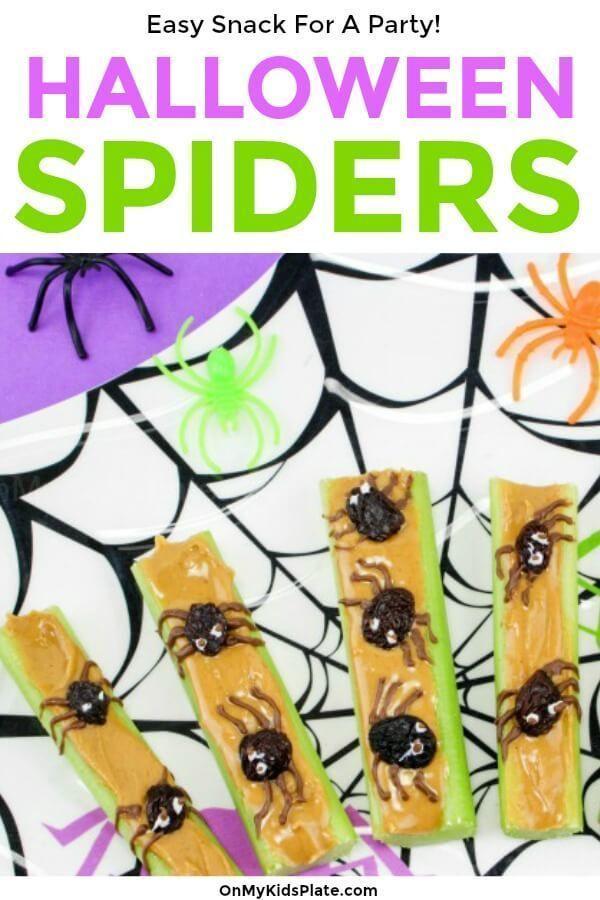 5 Minuten Peanut Butter Spider Snack -