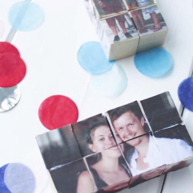 DIY Foto-Würfel - ein persönliches Geschenk für besondere Menschen