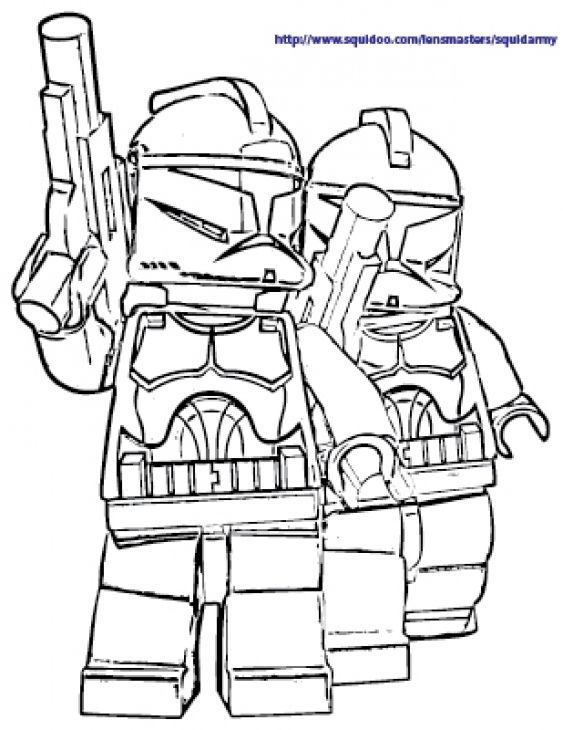 The White Stormtroopers In Lego Star Wars Free Coloring Sheets