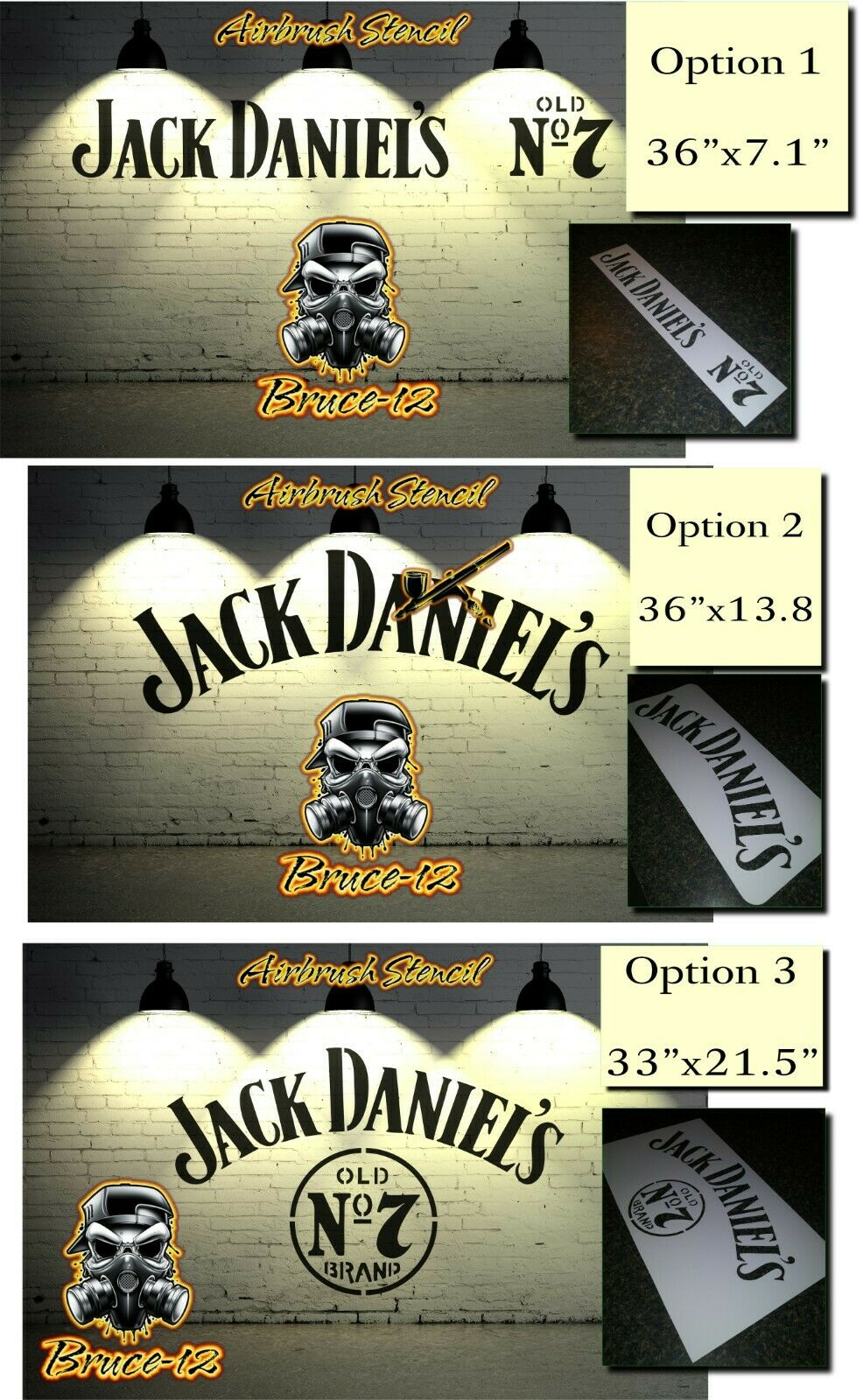 JACK DANIELS Liquor BAR Airbrush stencil 1 layer PICK YOUR SIZE Tennessee Honey