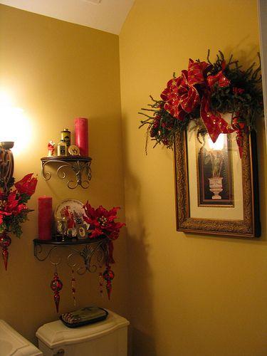 . The Christmas Decorated Bathrooms   Christmas   Christmas bathroom