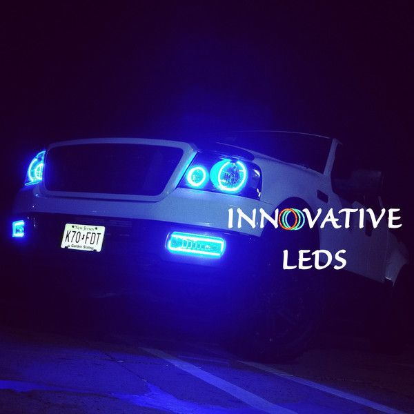 2005 Ford F150 Lariat >> 2004-2005 Ford F-150 with ColorNova RGB Headlight & Fog ...