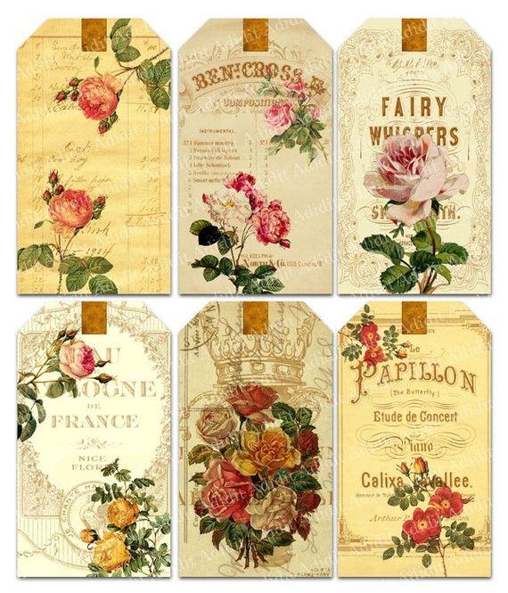 Laminas y trabajos con flores vintage laminas - Laminas decorativas vintage ...