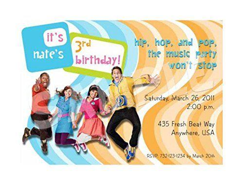 FRESH BEAT BAND Birthday Party Invitation - 5 Designs Unb - fresh birthday party invitation designs