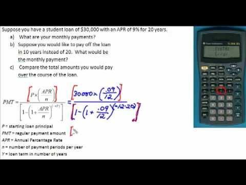 Loan Payment Formula Graphing Finance Loans Mortgage Calculator