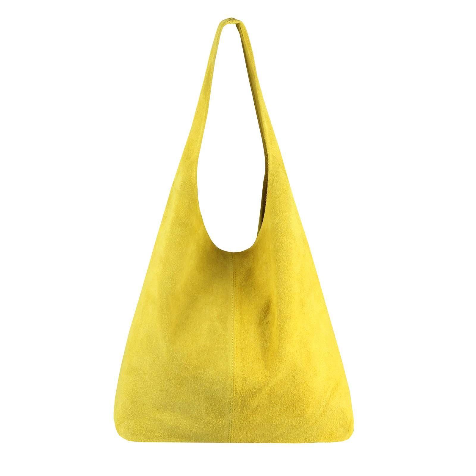 66fa9d5d6c03d MADE IN ITALY DAMEN LEDER TASCHE Handtasche Wildleder Shopper Schultertasche  Hobo-Bag Henkeltasche Beuteltasche Velourleder