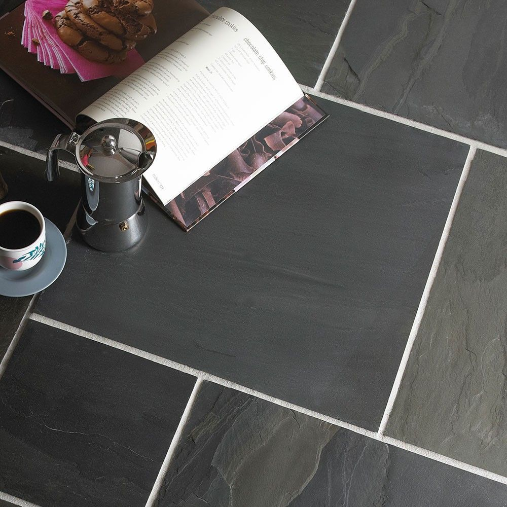Black slate random tiles country farmhouse black slate tiles 092 black slate random tiles country farmhouse black slate natural slate tiles 1 sq metre mixed sizes from walls and floors leading tile spe doublecrazyfo Images