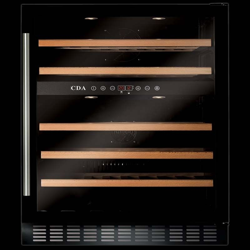 cda 600mm under counter black wine cooler - Under Counter Wine Fridge