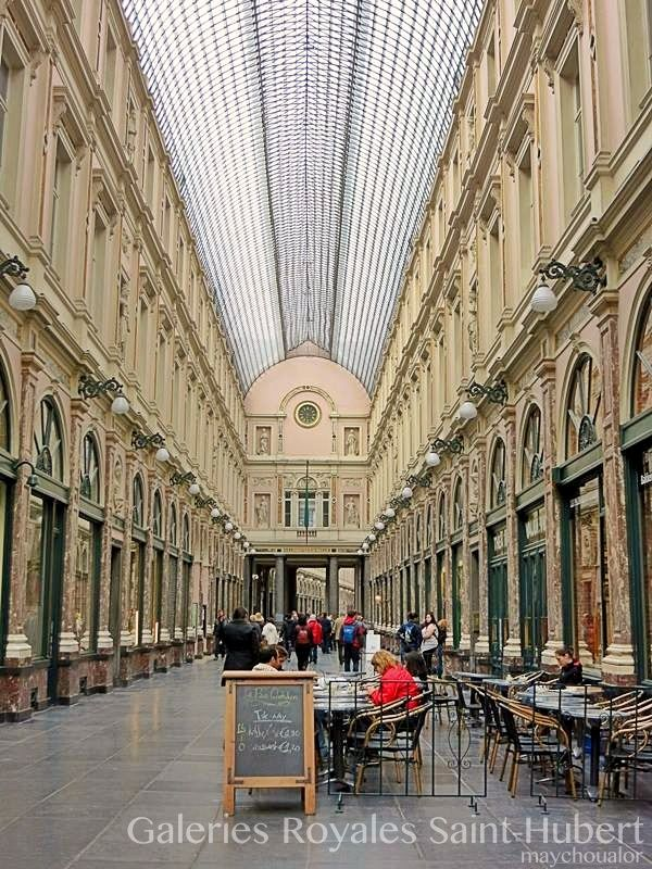 Galeries Royales Saint Hubert Koninklijke Sint Hubertusgalerijen Brussels Belgium Saint Hubert Street View Belgium
