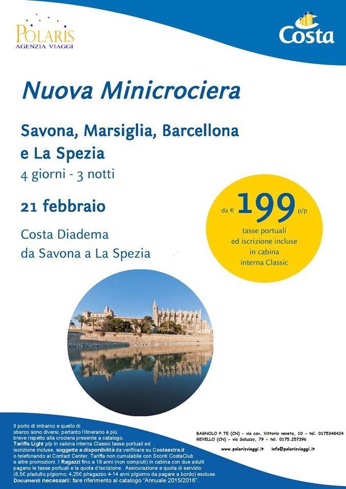 Offerta limitata minicrociera savona marsiglia barcellona for 3 giorni a barcellona offerte