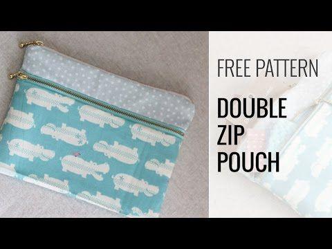 Double zipper pouch – video – Sew Modern Bags | B | Pinterest ...