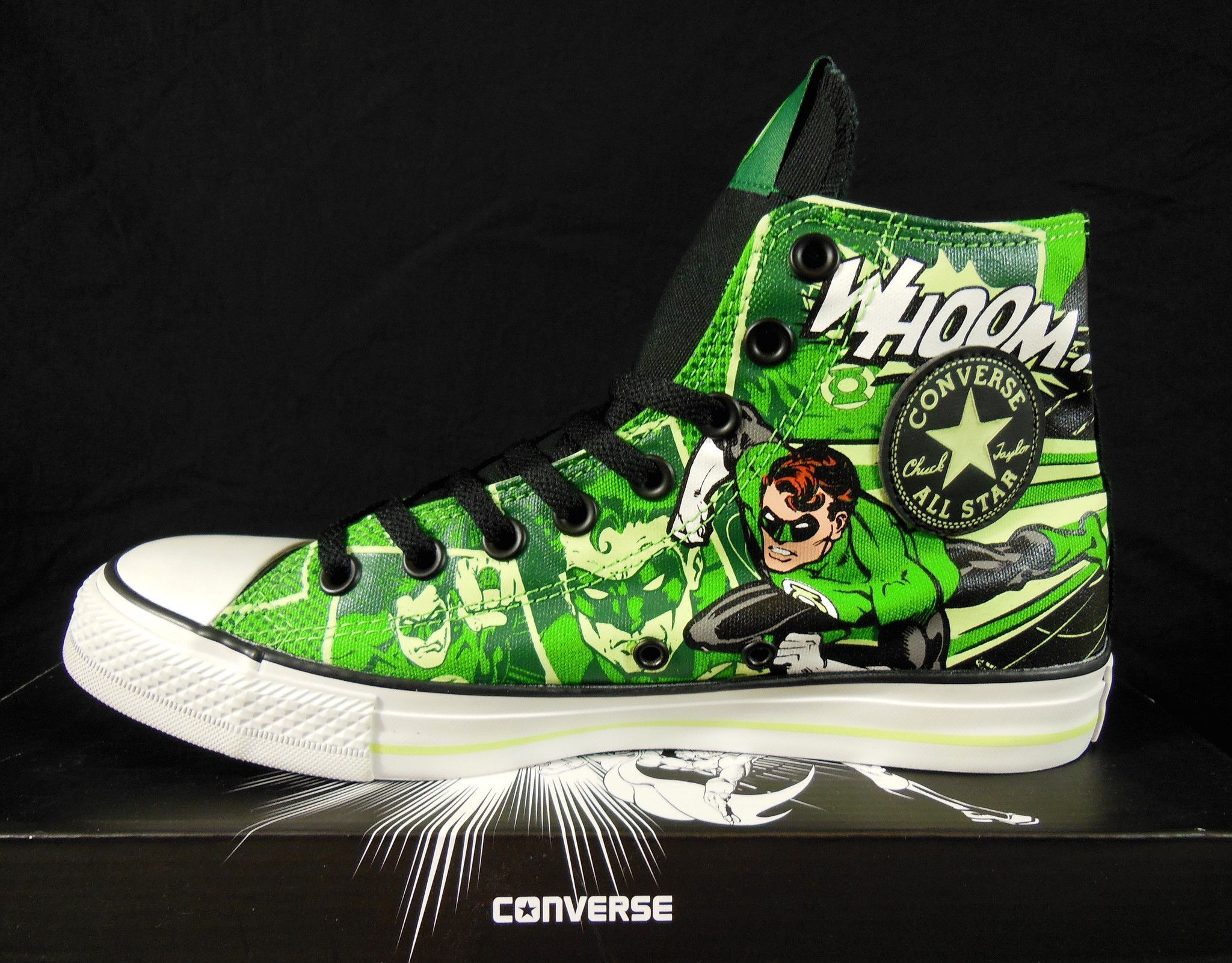 558b77dd75cd Converse Green Lantern All Star Chuck Taylor Kicks   Sneakers ...