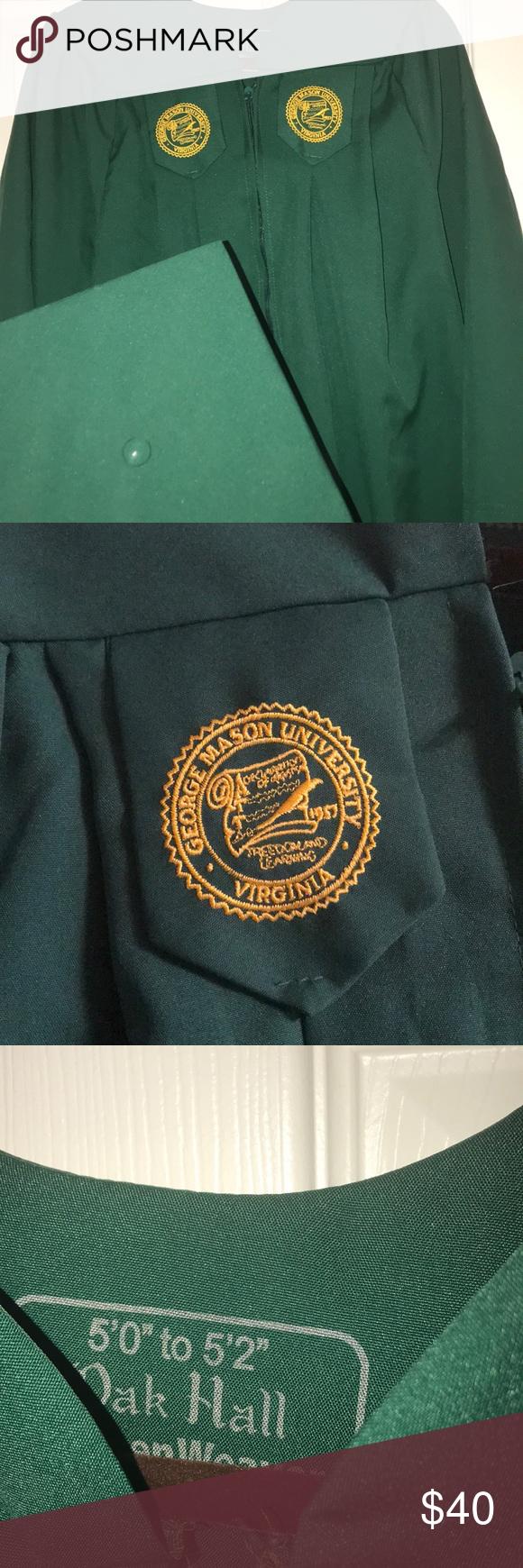 George Mason University cap and gown! GMU   Mason university