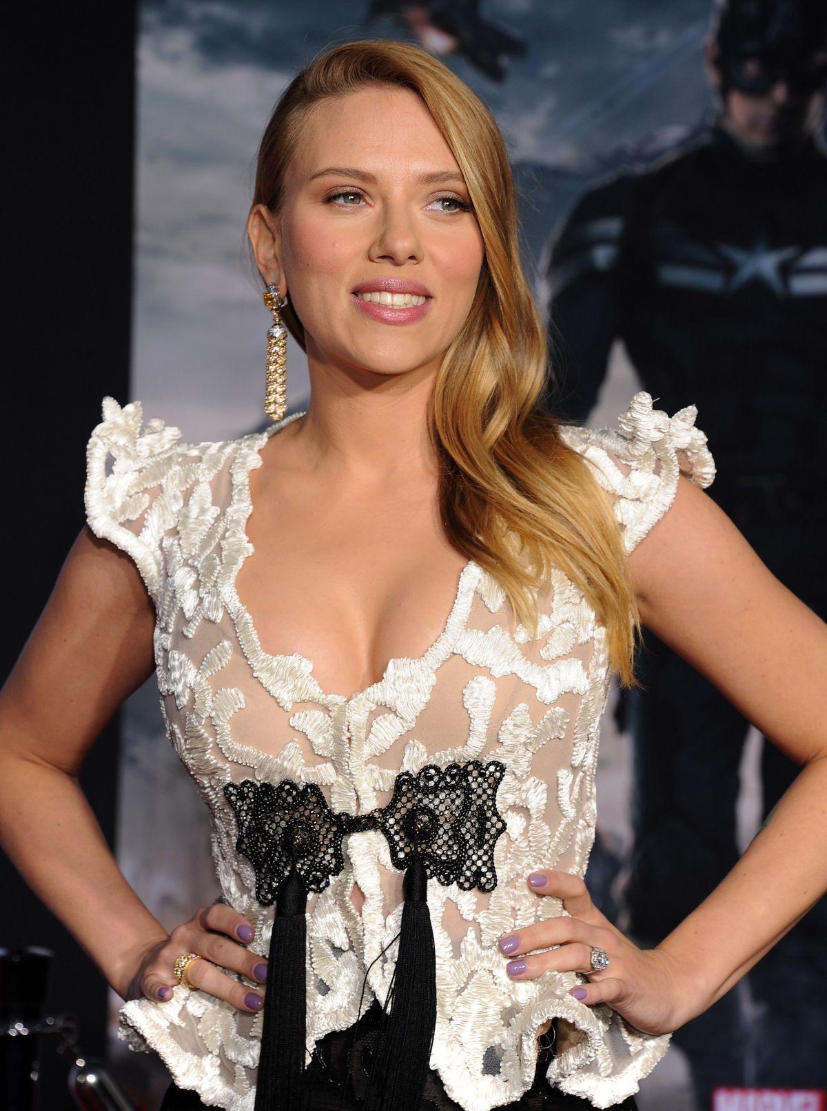 Scarlett Johansson At Captain America The Winter Soldier