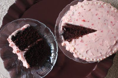 Squirrels-n-Sweets: Chocolate Cake with Strawberry Frosting