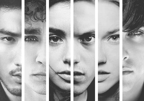 Magnus Bane, Simon Lewis, Clary Fray, Jace Wayland, Isabelle Lightwood, Alec Lightwood.
