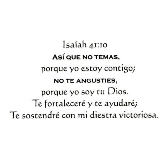 Isaiah 4110 In Spanish Unmounted Rubber Stamp Bible Verse