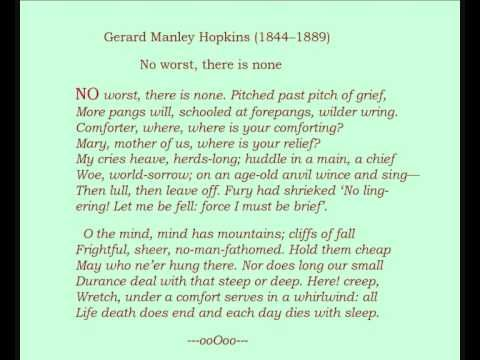 Gerard Manley Hopkins (1844--1889) -- Poem: 'No worst, there is ...