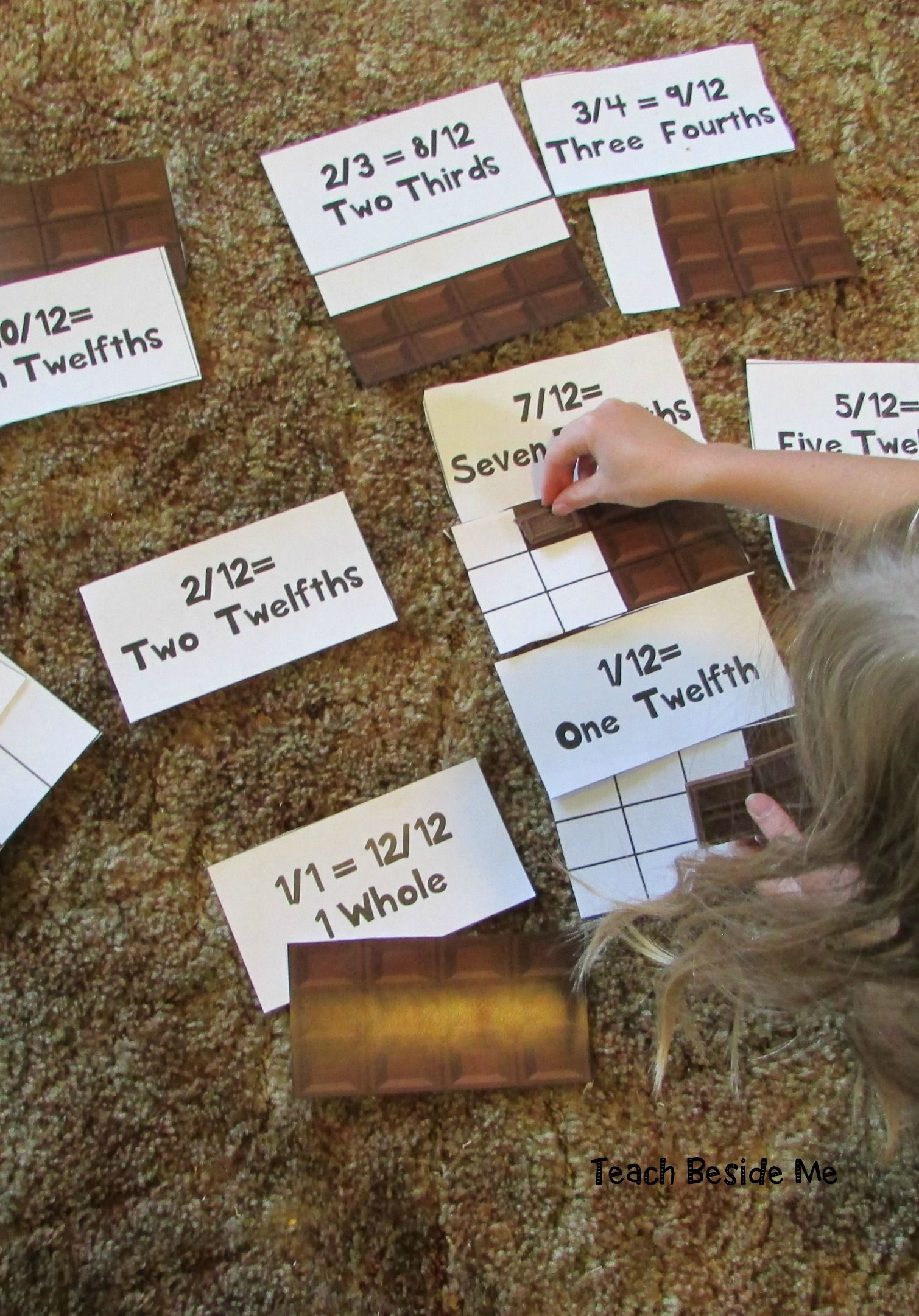 Hershey Fractions Printable Math Cards