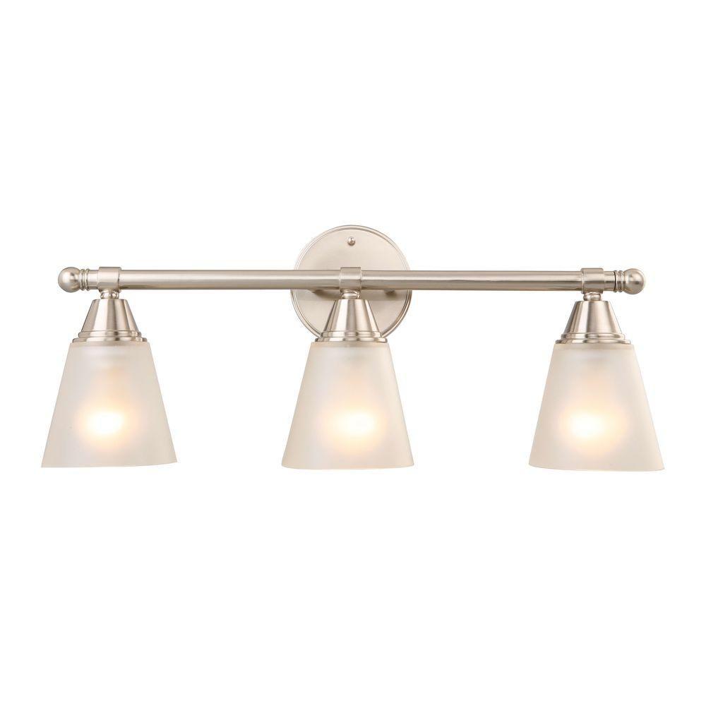 Hampton Bay 3 Light Chrome Bath Light Gjk1393a 4 Cr Home Depot Bathroom Vanity Lighting Easy Bathroom Updates