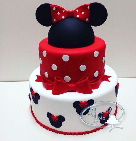 24 Trendy birthday cake fondant ideas minnie mouse #minniemouse