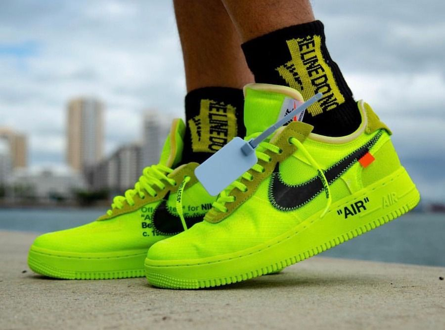 Nike Air Force 1 Low Off White Volt - $ 2,099.00 en Mercado ...