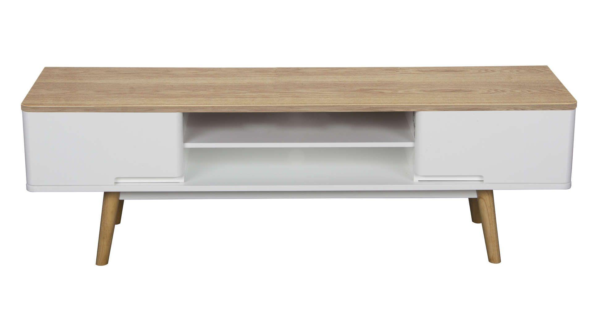 Meuble Tv Winsley Coloris Blanc Frene Vente De Meuble Tv Conforama Meuble Tv Meuble Tv Conforama Deco Maison