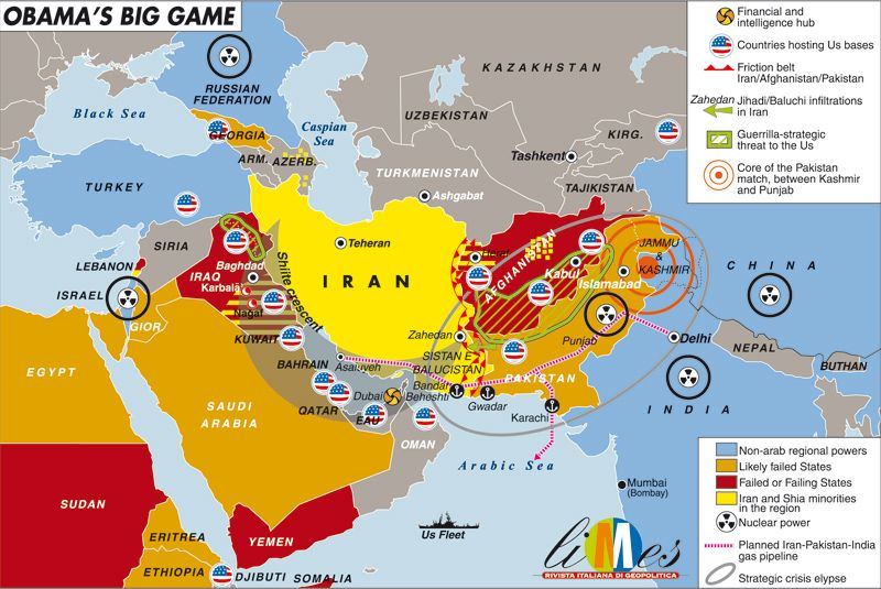 Obamas Big Game Big Game And History Articles Map Of The Middle East Us Military