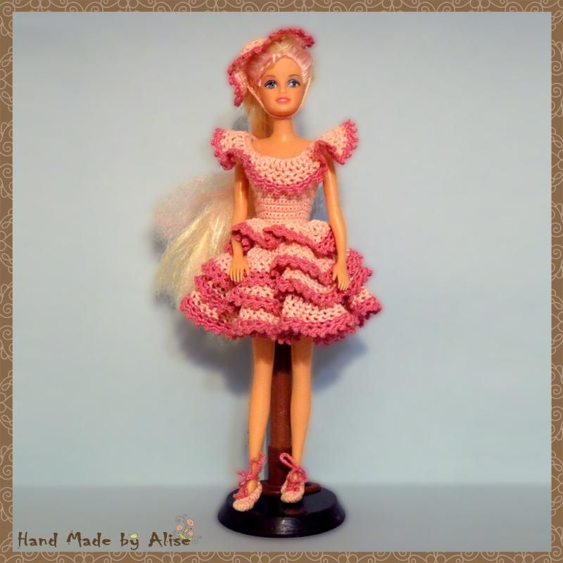 Образец платье для куклы