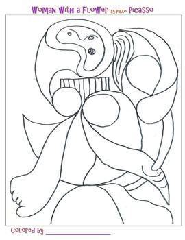 Coloring Pages Of Famous Artists Art Lessons Homeschool Art Classroom Art Projects