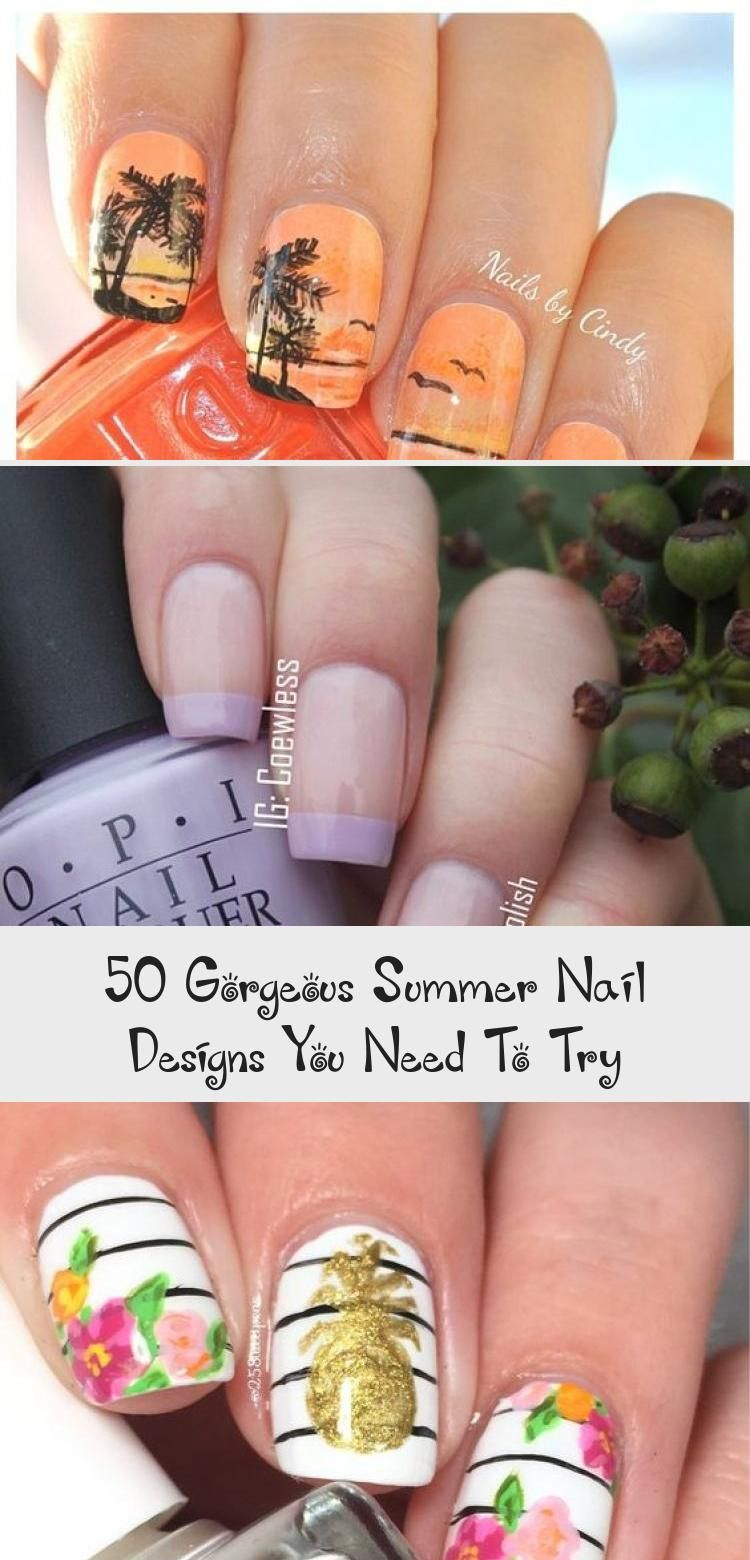 50 Gorgeous Summer Nail Designs You Need To Try | Summer nails, Crazy nail designs, Nail art