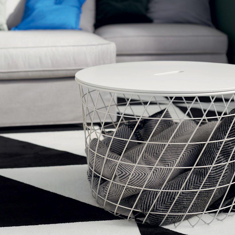Table Basse Ikea Panier Avec Couvercle Pour Ranger Son Plaid