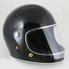 70s Vintage Style Full Face Motorcycle Helmet Retro Black W Shield Xl 100 New Cool Motorcycle Helmets Motorcycle Helmets Motorcycle Helmets Vintage