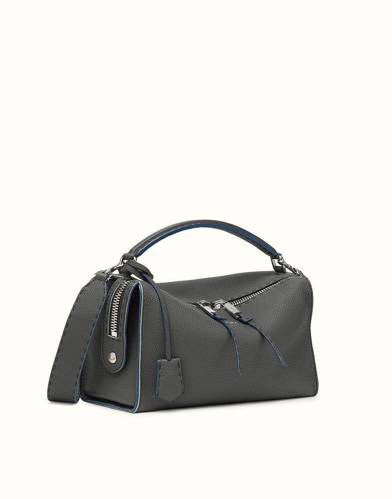 9e7ad29fb25f FENDI LEI SELLERIA BAG - gray Roman leather Boston bag - view 2 detail