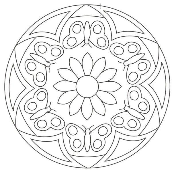 Mandalas faciles mandalas vitrais colorir pinterest mandala mandalas and adult coloring - Mandala facile ...