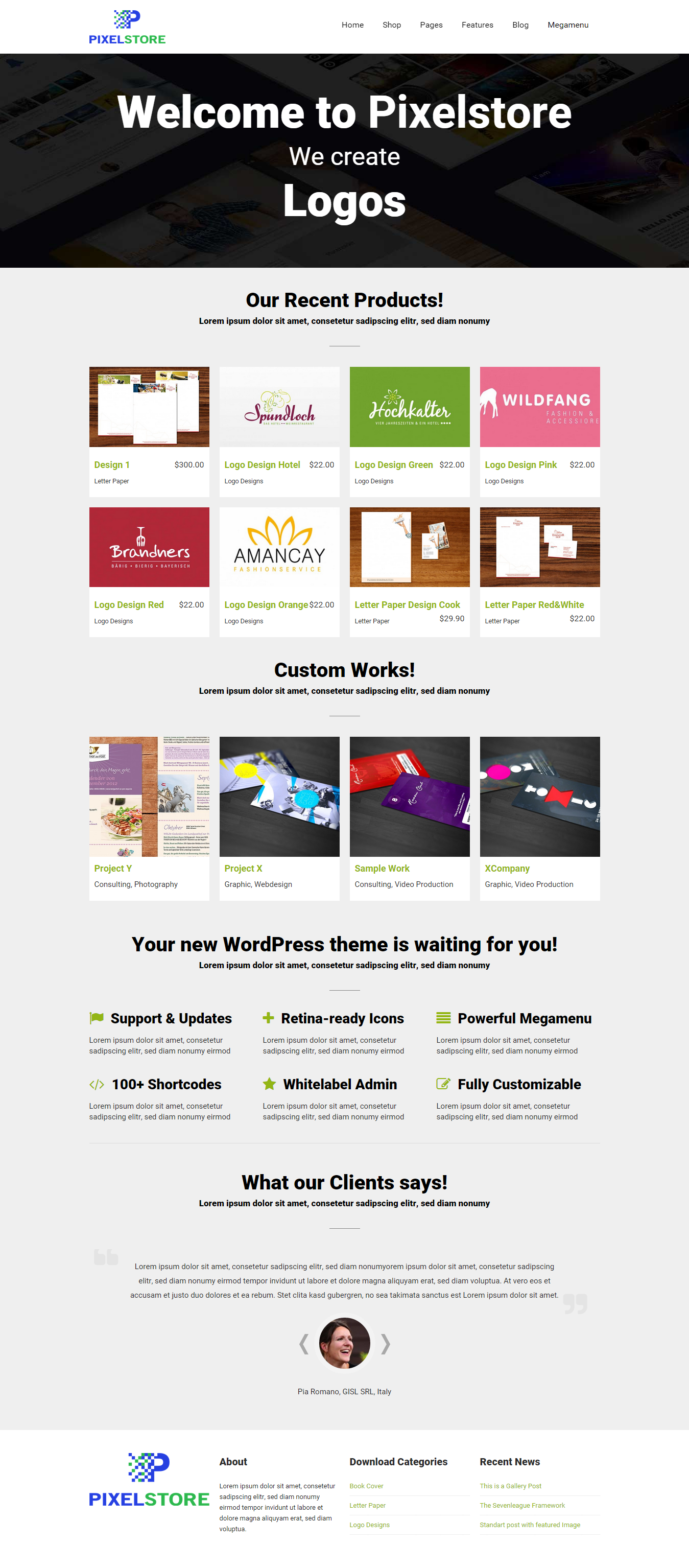 Pixelstore - a new WordPress Theme for digital downloads. Want to ...