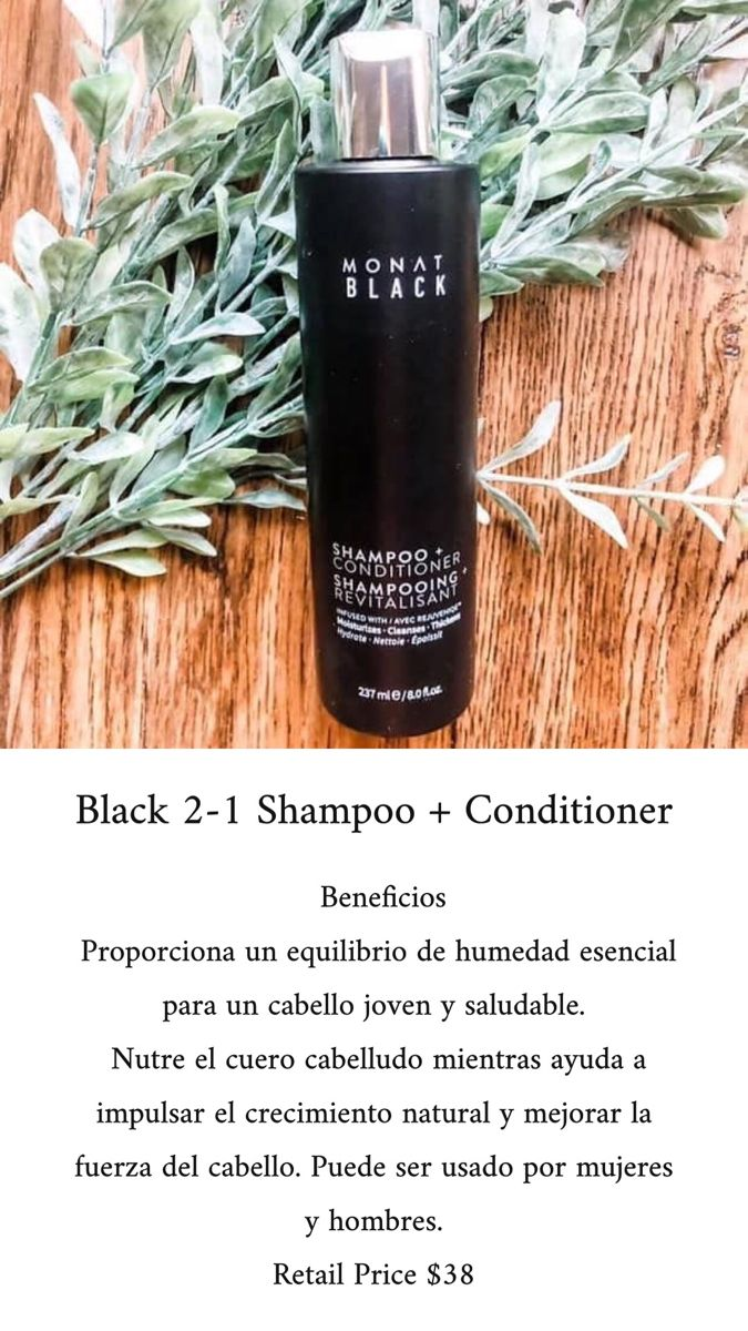 Black shampoo + conditioner