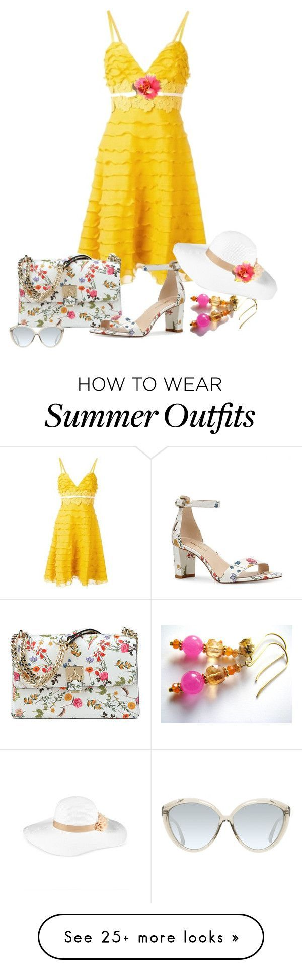 Summer outfits yellow for summer by belladonnasjoy on polyvore